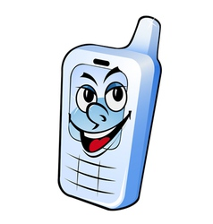 cartoon smiling phone vector image
