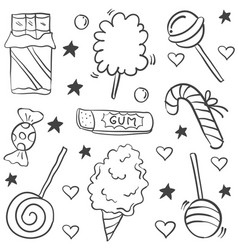 Doodle of candy hand draw style vector
