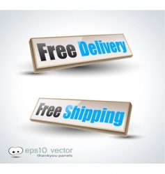 Free delivery panels vector