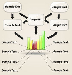 graphic with diagram arrows and text vector image vector image