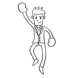 Happy businessman character style design vector