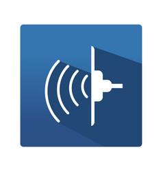Industrial ultrasonic icon vector