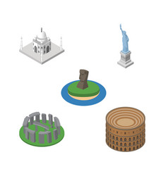 Isometric attraction set of coliseum new york vector