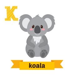 Koala K letter Cute children animal alphabet in vector image