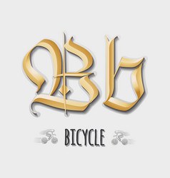 Letter bb sticker insignia vector