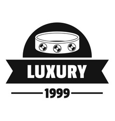 Luxury logo simple black style vector