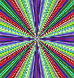 Multicolored ray burst motion background vector
