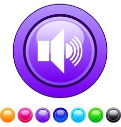 Sound circle button vector image