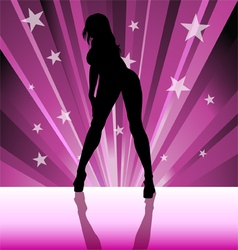 stripper silhouette vector image