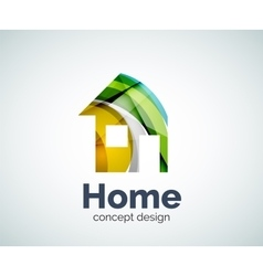 Home real estate logo template vector