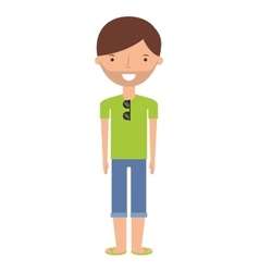 Young man with summer fashion vector