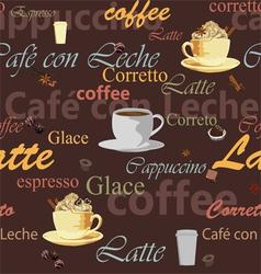 seamless coffee theme vector image