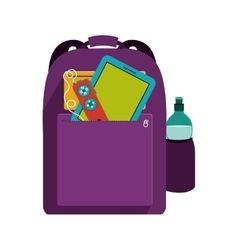 hipster backpack icon vector image