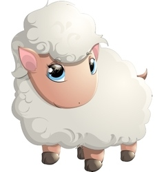 beautiful cheerful sheep vector image