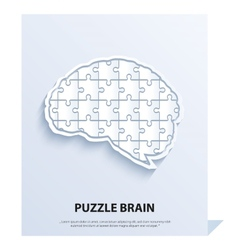 Human brain composed of a puzzle vector