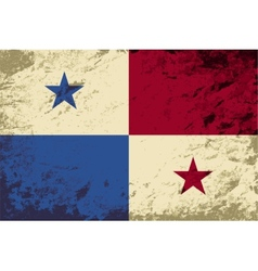 Panamanian flag grunge background vector