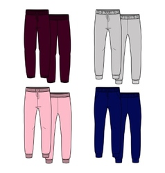Girls trousers color vector