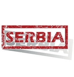 Serbia outlined stamp vector