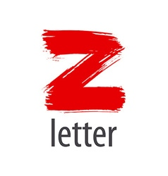 Creative logo red letter z vector