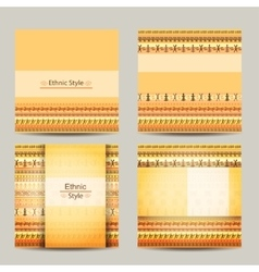 Set of cards with ethnic african design geometric vector