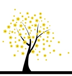 Cute abstract tree vector