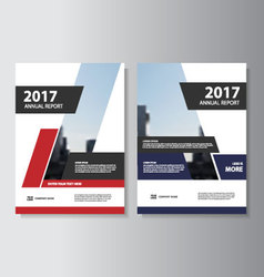Annual report leaflet brochure flyer template set vector
