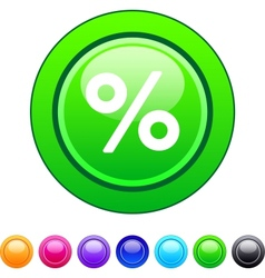 Percent circle button vector