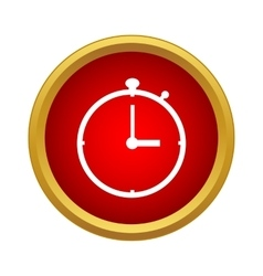 Stopwatch icon in simple style vector