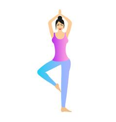 a female yoga vector image vector image