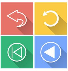 Backward - icon vector