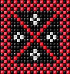 black white and red cubes vector image