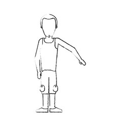 blurred silhouette caricature faceless man with vector image vector image