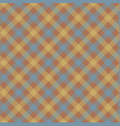 Brown check plaid fabric texture seamless pattern vector