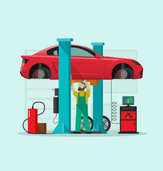 Car repair station mechanic vector