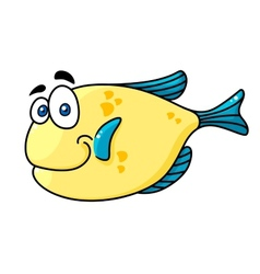 Cartooned smiling fish with big eyes vector image