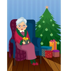 Christmas gift for grandma vector