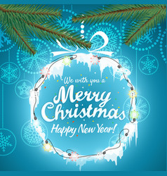 Christmas greeting card with abstract christmas vector