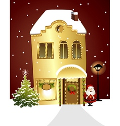 Christmas shop vector image