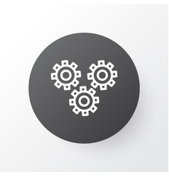 Cogwheels icon symbol premium quality isolated vector