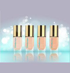 Cosmetic product foundation make up vector
