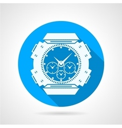 Divers watch round icon vector image
