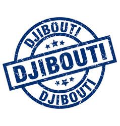 Djibouti blue round grunge stamp vector
