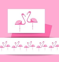 Flamingo bird sign vector