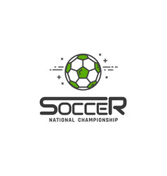 football or soccer logo vector image vector image