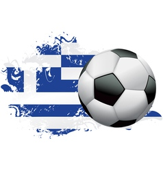 Greece Soccer Grunge vector image