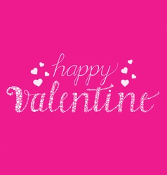 Happy valentine with brush script vector