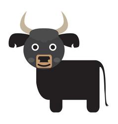 Isolated cute buffalo vector