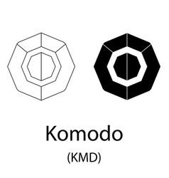 Komodo black silhouette vector