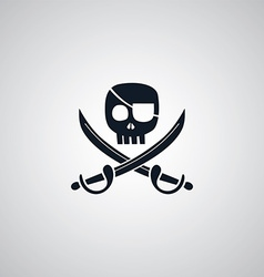 Pirate flat icon theme vector
