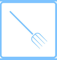 pitchfork icon vector image vector image
